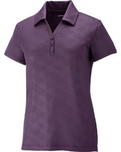 Ash City - North End Sport Red Maze Performance Stretch Embossed Print Ladies Polo