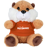 "6"" Beaver Plush Animal with Shirt"