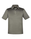 North End Men's Sport Red Exhilarate Coffee Charcoal Performance Polo with Back Pocket