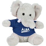 "6"" Plush Elephant with Shirt"