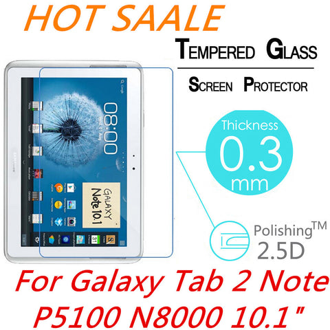 9H 0.3MM Explosion-Proof Toughened Tempered Glass For Samsung Galaxy Tab 2 Note P5100 N8000 10.1 Film Clear Screen Protect Cover