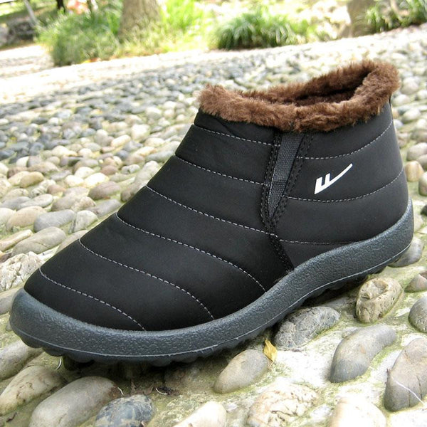 Women Winter Shoes  black waterproof 2016 female ankle snow boots  lady's cotton-padded  casual outdoor warm shoes