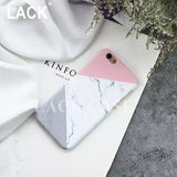 Fashion Marble Phone Cases For iphone 6 6S Plus 6Plus Case 4.7/5.5 New Fashion Geometric Splice Pattern Stone Back Cover i6 Case