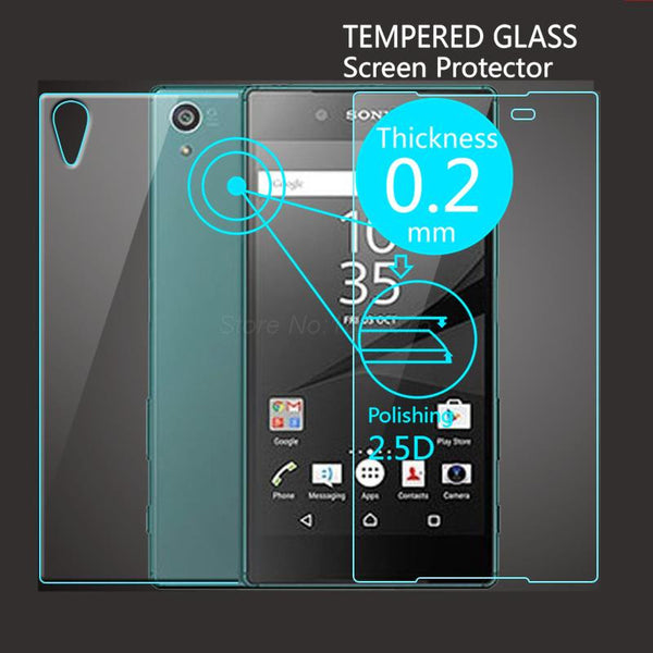 2 PCS/Lot = Front+Back Explosion-Proof Tempered Glass Screen Protector Film for Sony Z1 Z2 Z3 Z4 Z5 Mini Compact Premium  Plus