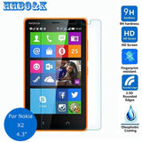 For Nokia X2 Tempered glass Screen Protector 0.26mm 2.5 9h Safety Protective Film on X2 Dual Sim