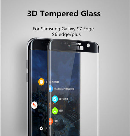 0.2mm 9H 3D Curved Surface Full Screen Cover Explosion-proof Tempered Glass Film For Samsung Galaxy S6 S7 edge S7edge