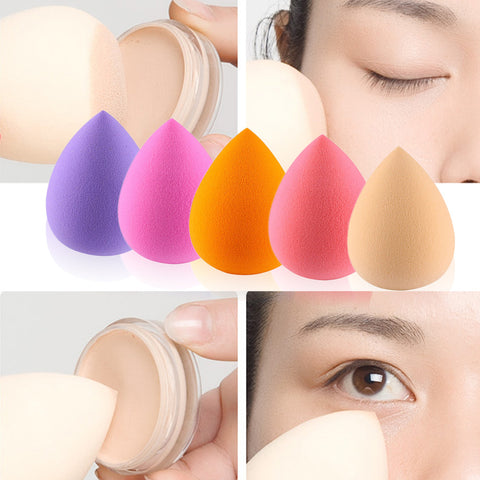 5Pcs Water Droplets Makeup Foundation Sponge Blender Puff Flawless Powder Smooth Cosmetic Puff Makeup Blending Tool Multi-color