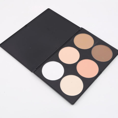 1pcs Professional 6 Color Pressed Powder Palette Nude Makeup Contour Cosmetic HOt Selling
