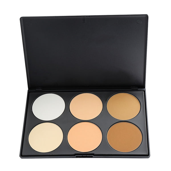 Professional 6 Color Pressed face Powder Palette Nude Makeup Contour Cosmetic  Hot Search