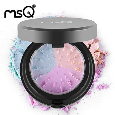 MSQ Grind Loose Powder 3 Colors Compact Powder To Face For Beauty Makeup Necessity With A Good Quality Puff