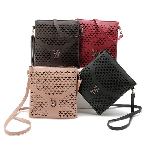 2016 new famous brand women bags handbags ladies hollow out designer leather crossbody bags women small shoulder messenger bags