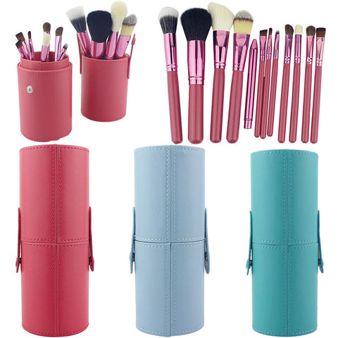 12PCS Makeup Brushes Professional BLUEFRAG Make Up Brush Holder Set Pincel Maquiagem for Beauty Contour kit Foundation Cosmetics