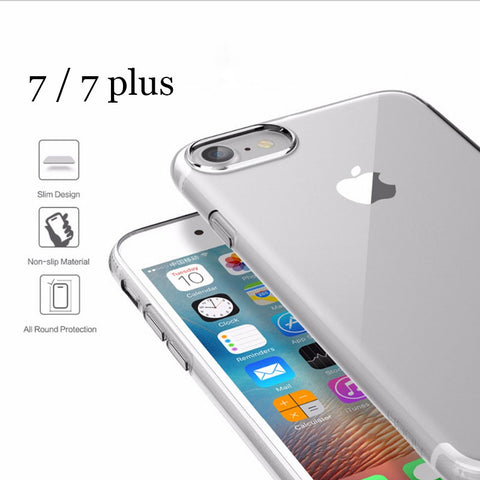 2016 new Ultrathin TPU case for iPhone 7 Plus case Brand phone cover For iPhone7 plus Transparent Slim back case cover