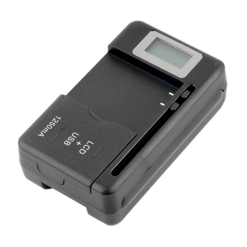 Mobile Universal Battery Charger LCD Indicator Screen For Cell Phones USB-Port US Plug