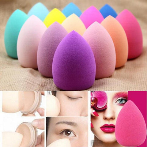 3Pcs 40x60 mm Big Waterdrop Shape Powder Puff ,Beauty Make Up Tool Sponge Cosmetic Puffs Makeup Tools Accessories Fluffy Cheap