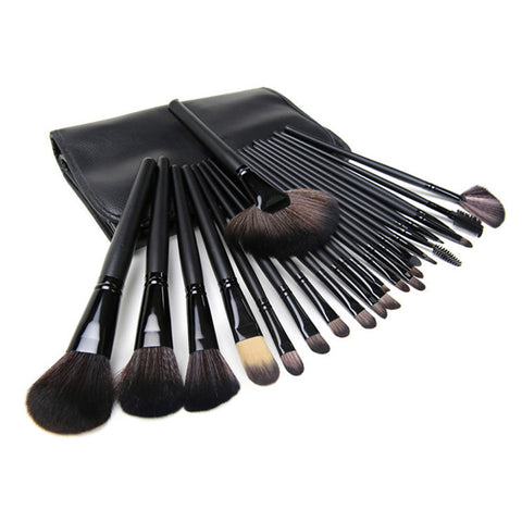 24pcs Makeup Brushes Set Eyeshadow Blending Brush Powder Foundation Eyebrow Lip Eyeliner Brush Cosmetic Tool with Sponge Puff