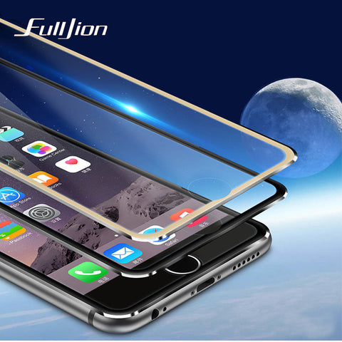 For Apple iPhone 6 6S Tempered Glass Screen Protector Full Cover 3D Edge Black Silver Rose Gold 9H Toughened Film Titanium