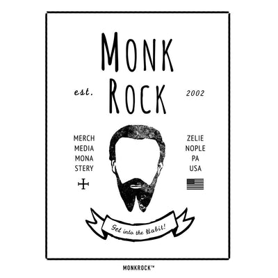MONKROCK Hipster Logo Est. 2002 Sticker