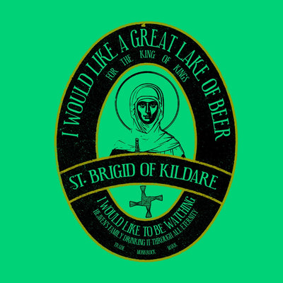St Brigid Of Kildare Lake Of Beer Sticker