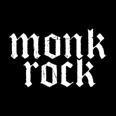 MONKROCK Grunge Logo Sticker