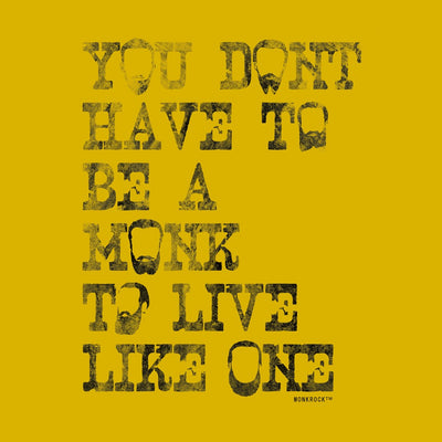 You Don't Have To Be A Monk To Live Like One Beards Sticker