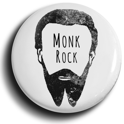 Hipster Monk Button