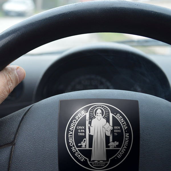 St Benedict Medal Holy Rule Sticker