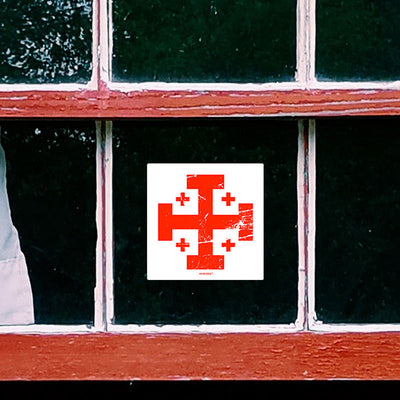 Jerusalem Cross Sticker