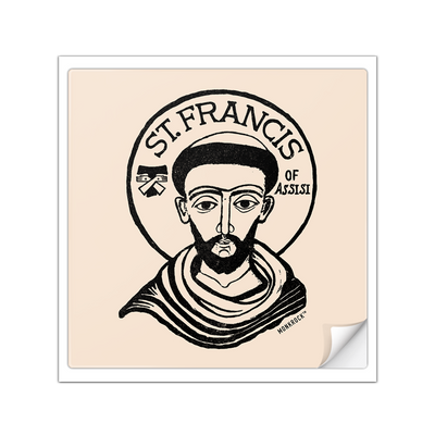 St Francis Of Assisi Tertiary Sticker