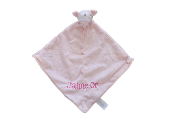 Angel Dear Pink Bulldog Blankie .