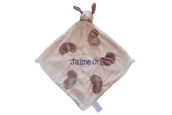 Angel Dear Tan Dog Blankie