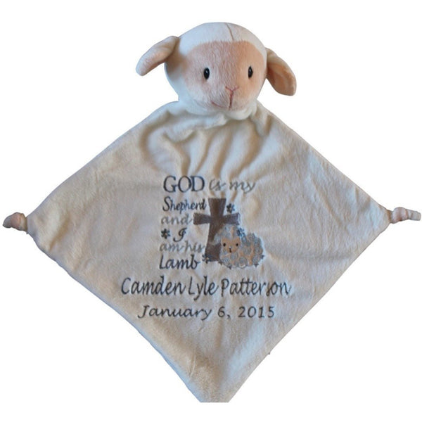 Animal Lovey Blanket Baptism