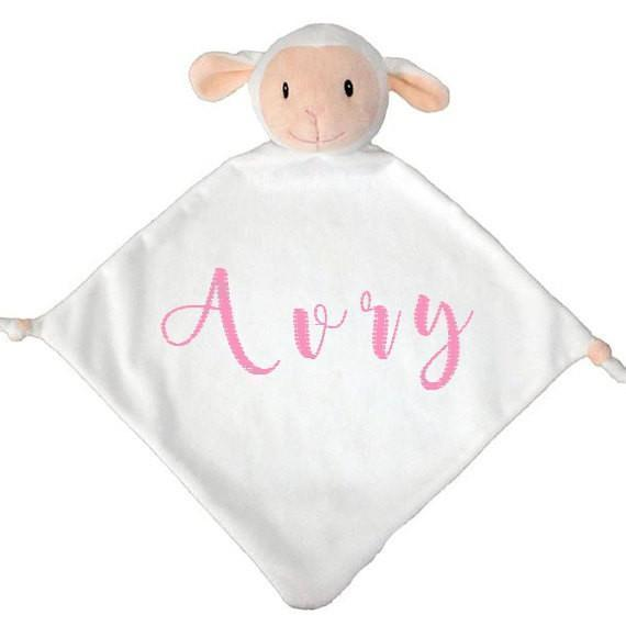 Animal Lovey Blanket Lamb