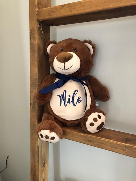 Personalized Stuffed Animal  Brown Bear