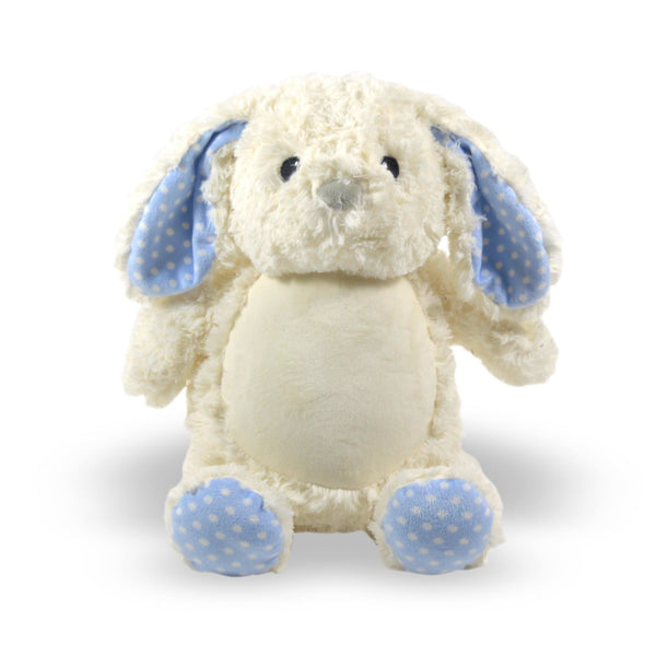 Personalized Stuffed Animal Bunny Blue Feet