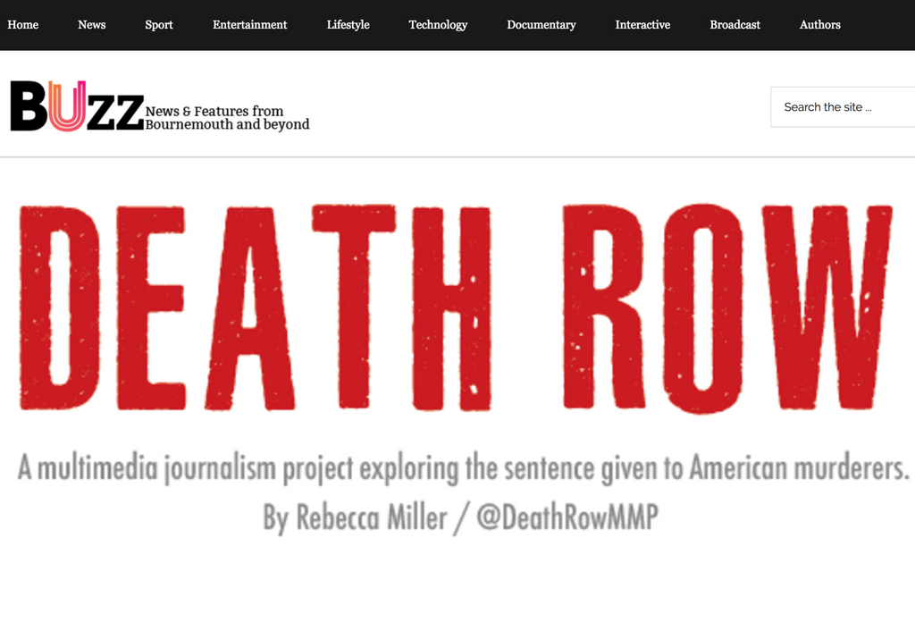 Podcast with BUZZ - DEATH ROW: A multimedia journalism project exploring the sentence given to...