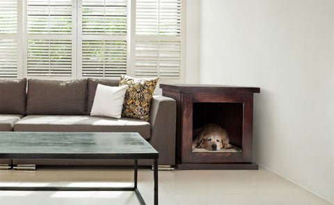 Instead Of Choosing The Traditional Dog Crate, Which Can Be Cold And  Uncomfortable For Your Pet, Consider Opting For A Decorative Dog Crate End  Table.