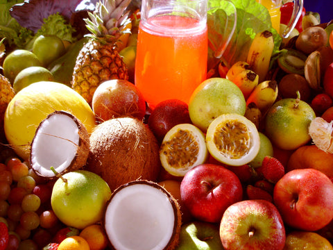 Delicious Fruits and Vegetables Stand for Healthier New Year's Self Defense Resolution