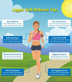 Jogger Self-Defense Infographic: 8 Simple Tips