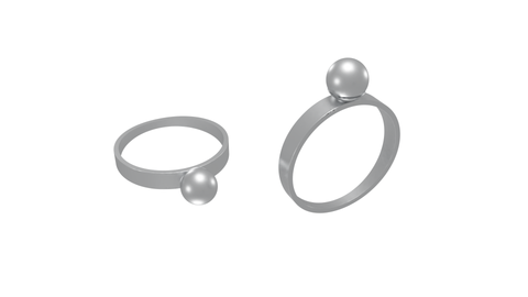 Self defense ring pearl