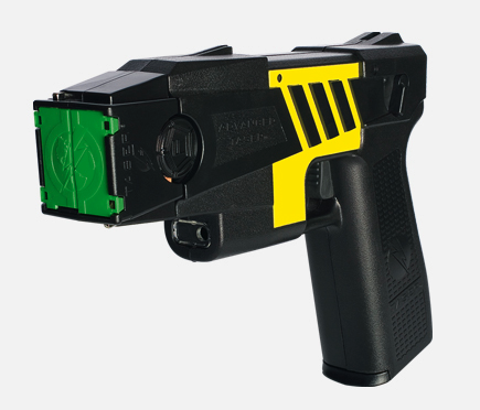 Black and Yellow Stun Gun for Disabling Attackers