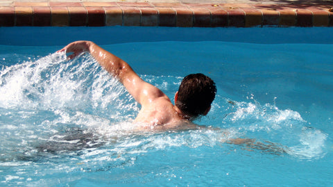 Male Swimmer Improving Cardio for Safety