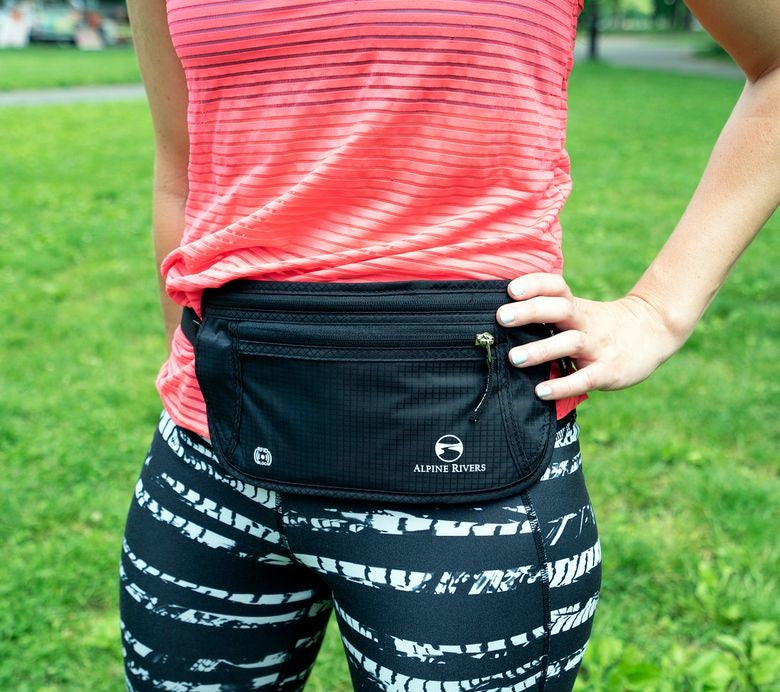 Woman Wearing Money Belt for Theft Prevention