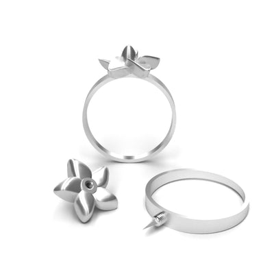 Self Defense Ring Jewelry with Hidden Knife | Plumeria Defender Ring