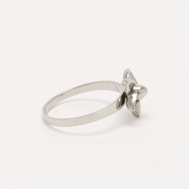 Self Defense Jewelry in Stainless Steel | Cute Plumeria Flower Jewelry Ring