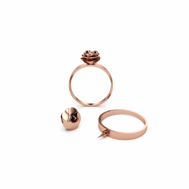 Rose (Rose Gold) Defender Ring Self Defense Jewelry