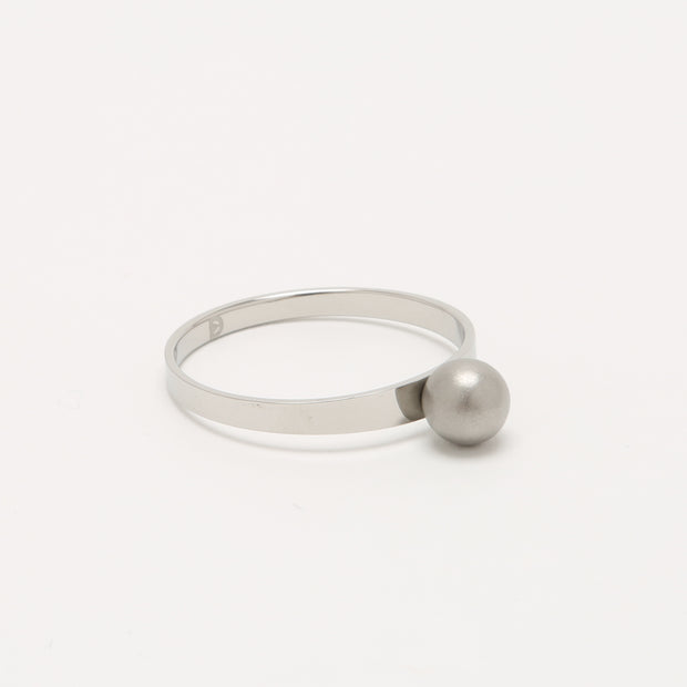 Grey Self Defence Ring Jewelry | Sandblast Defender Ring