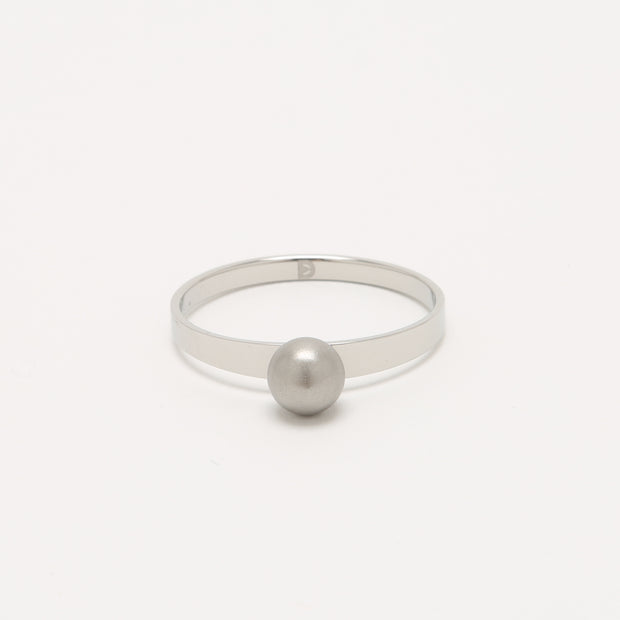 Chic Self Defense Ring with a Sandblast Sphere Top | Defender Ring