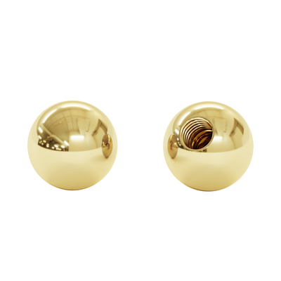 Sphere, 14K Gold (Top Only)