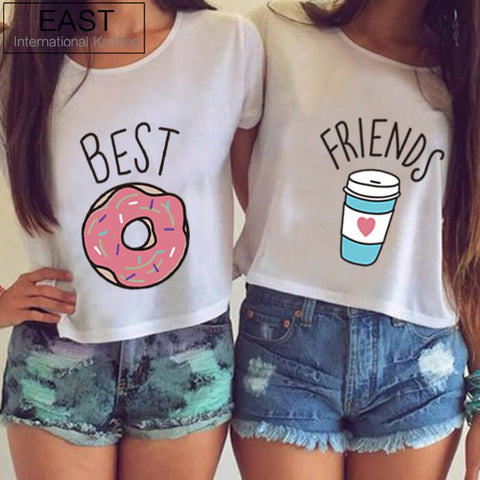 Best Friends TShirt Donut And Coffee Duo